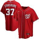 ショッピングikea ナイキ メンズ シャツ トップス Stephen Strasburg Washington Nationals Nike Alternate 2020 Replica Player Jersey Red