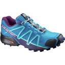 ショッピングSALOMON サロモン レディース ランニング スポーツ Speedcross 4 Trail Running Shoe - Women's Hawaiian Surf/Astral Aura/Grape Juice