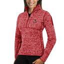 ショッピングJACKET アンティグア レディース ジャケット&ブルゾン アウター St. Louis Cardinals Antigua Women's Fortune Half-Zip Pullover Sweater Heathered Red