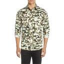 ショッピングタートル セレクテッドオム メンズ シャツ トップス Selected Homme Bryson Slim Fit Camo Button-Up Shirt Sea Turtle