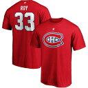 ファナティクス メンズ Tシャツ トップス Patrick Roy Montreal Canadiens Fanatics Branded Authentic Stack Retired Player Name & Number T-Shirt Red