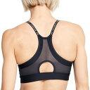 アンダーアーマー レディース フィットネス スポーツ Under Armour Women's Infinity Low Support Sports Bra Black/White