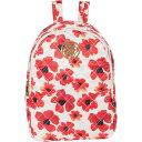 ショッピングバックパック ナネットレポー レディース バックパック・リュックサック バッグ Nylon Printed Washable Backpack Coral/Poppy Print