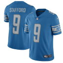 ショッピングLimited ナイキ メンズ シャツ トップス Matthew Stafford Detroit Lions Nike 2017 Vapor Untouchable Limited Player Jersey Blue