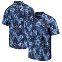 ショッピングTOMMY トッミーバハマ メンズ シャツ トップス Seattle Seahawks Tommy Bahama Fuego Floral Woven Button-Up Shirt College Navy