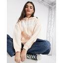 ショッピングトレーナー リーバイス レディース パーカー・スウェットシャツ アウター Levi's batwing logo hoodie in dusty pink Scallop shell