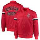 スターター メンズ ジャケット&ブルゾン アウター Houston Rockets Starter The Champ Varsity Satin Jacket Red