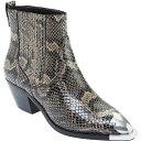 ショッピングエンジニア アッシュ レディース ブーツ&レインブーツ シューズ Women's ASH Floyd Chelsea Bootie Taupe Python Print Leather