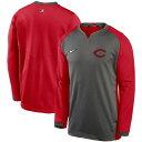 ショッピングikea ナイキ メンズ パーカー・スウェットシャツ アウター Cincinnati Reds Nike Authentic Collection Thermal Crew Performance Pullover Sweatshirt Charcoal/Red