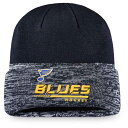 ファナティクス メンズ 帽子 アクセサリー St. Louis Blues Fanatics Branded Authentic Pro Locker Room Official Graphic Cuffed Knit Hat Navy