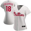 ショッピングNIKE ナイキ レディース シャツ トップス Didi Gregorius Philadelphia Phillies Nike Women's Home 2020 Replica Player Jersey White/Red