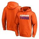 ショッピングOn ファナティクス メンズ パーカー・スウェットシャツ アウター Clemson Tigers Fanatics Branded Team Hometown Collection Pullover Hoodie Orange