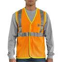 ショッピングベスト カーハート メンズ ジャケット&ブルゾン アウター Carhartt Men's High Visibility Class 2 Vest (Regular and Big & Tall) BriteOrange