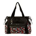 ショッピングオムツ カレンコム レディース ハンドバッグ バッグ Nola Tote Diaper Bag (Women's) Houndstooth Black & Red