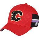 ショッピングShock アディダス メンズ 帽子 アクセサリー Calgary Flames adidas Hockey Fights Cancer Flex Hat Red