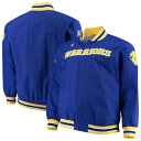 ミッチェル&ネス メンズ ジャケット&ブルゾン アウター Golden State Warriors Mitchell & Ness Hardwood Classics Big & Tall Authentic WarmUp Jacket Royal