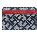 ショッピングシグネチャー トミー ヒルフィガー レディース 財布 アクセサリー Signature Geo Jacquard Card Case Navy/White
