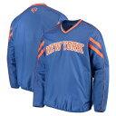 ショッピングカール カールバンクス メンズ ジャケット&ブルゾン アウター New York Knicks G-III Sports by Carl Banks Red Zone Wordmark V-Neck Pullover Jacket Blue
