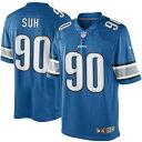 ショッピングLimited ナイキ メンズ シャツ トップス Ndamukong Suh Detroit Lions Nike Team Color Limited Jersey Light Blue
