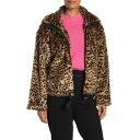 ショッピングコフレ レベッカミンコフ レディース ジャケット&ブルゾン アウター Brigit Faux Fur Leopard Print Jacket MULTI