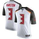 ショッピングJAM ナイキ メンズ シャツ トップス Jameis Winston Tampa Bay Buccaneers Nike Speed Machine Limited Player Jersey White