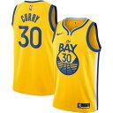 ショッピングカレー ナイキ メンズ シャツ トップス Stephen Curry Golden State Warriors Nike Finished Swingman Jersey Gold Statement Edition