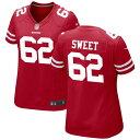 ショッピングNIKE ナイキ レディース ユニフォーム トップス San Francisco 49ers Nike Women's Custom Game Jersey Scarlet