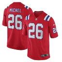 ショッピングSONY ナイキ メンズ シャツ トップス Sony Michel New England Patriots Nike Alternate Game Jersey Red