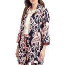 ジュリーブラウン レディース ジャケット&ブルゾン アウター Mildred Notch Lapel Long Sleeve Button Front Crepe Jacket Navy Dandies