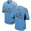 ショッピングNIKE ナイキ メンズ ユニフォーム トップス Tennessee Titans Nike Alternate Custom Game Jersey Light Blue