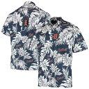ショッピングレイン レインスプーナー メンズ シャツ トップス Detroit Tigers Reyn Spooner Aloha Button-Down Shirt Navy