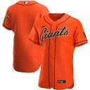 ナイキ メンズ ユニフォーム トップス San Francisco Giants Nike Alternate 2020 Authentic Team Jersey Orange