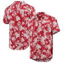 フォコ メンズ シャツ トップス Alabama Crimson Tide College Floral ButtonUp Shirt Crimson