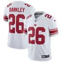 ナイキ メンズ シャツ トップス Saquon Barkley New York Giants Nike Vapor Untouchable Limited Jersey White