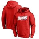ショッピングスウェット ファナティクス メンズ パーカー・スウェットシャツ アウター Radford Highlanders Double Bar Pullover Hoodie Red