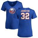 ショッピングANA ファナティクス レディース Tシャツ トップス New York Islanders Fanatics Branded Women's Personalized Team Authentic V-Neck T-Shirt Royal