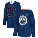 アディダス メンズ ユニフォーム トップス Connor McDavid Edmonton Oilers adidas Practice Player Jersey Royal