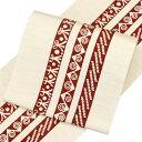 【お仕立て付き】クリキュラ 九寸名古屋帯 ロイアルシルク 王妃の紋章「GKRH」 [商品番号9nobi1575]【あすかや】
