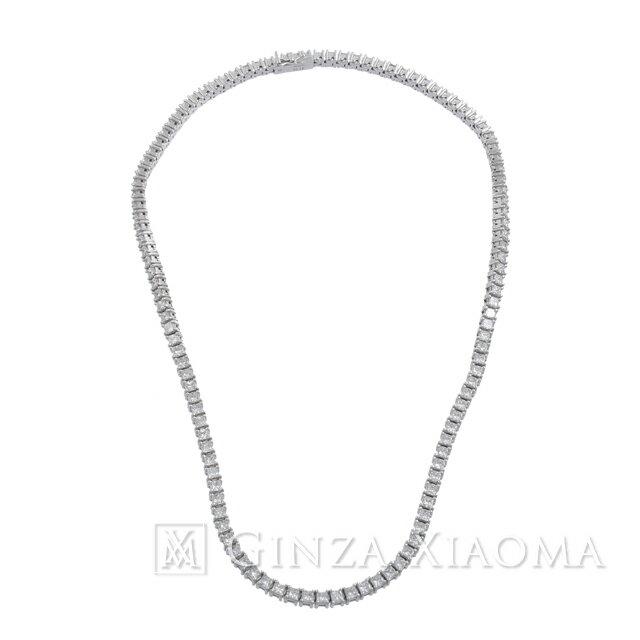 【中古】 [ジュエリー] TASAKI タサキ ダイヤネックレス プリンセスカット PT900 16.15ct ネックレス アクセサリー