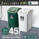 ゴミ箱 ごみ箱 ダストボックス【送料無料】分別 ダストボックスSPハンドルペール 45L【2個セット】