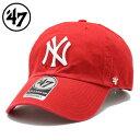 ショッピングベース 【楽天スーパーSALE 4時間限定20%OFFクーポン対象♪】47Brand キャップ 47 Brand CAP 47ブランド 帽子 ローキャップ ベースボールキャップ メンズ レディース ブランド 大きいサイズ YANKEES 47 CLEAN UP RED