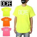 【SALE】ドープ DOPE Tシャツ 半袖 半袖Tシャツ メンズ レディース ブランド 大きいサイズ おしゃれ かっこいい CLASSIC LOGO TEE 19DP-FW100T セーフティグリーン オレンジ ホットピンク M L XL XXL