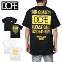 【SALE】ドープ DOPE Tシャツ 半袖Tシャツ 綿100% メンズ レディース ブランド 大きいサイズ QUALITY DOPE POCKET TEE 19DP-SS078T バックプリント かっこいい お洒落 ブラック ホワイト M L XL XXL