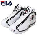 ショッピングバスケットシューズ フィラ FILA スニーカー バッシュ バスケットシューズ メンズ レディース ブランド グラントヒル 2 リピート F4077 WHITE ホワイト 26.5cm 27cm 27.5cm 28cm