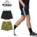 ショッピングkappa KAPPA BANDA カッパ バンダ SHORT PANTS K0812DY50 メンズ レディース 春物 ショートパンツ ブラック カーキ M L XL