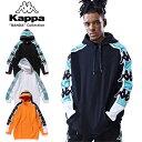 ショッピングkappa KAPPA BANDA カッパ バンダ PULL HOODIE K08W2MT50 メンズ レディース 春物 スウェットパーカー ブラック ホワイト オレンジ M L