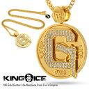 【予約商品 2017年2月入荷】キングアイス Empire コラボ 14Kゴールド コーティング メダリオン ネックレス KING ICE 14K GOLD G...