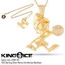 KING ICE キングアイス マービン・ザ・マーシャン ネックレス 14Kゴールド コーティング SPACE JAM X KING ICE - .925 STERLING SILVER MARVIN THE MARTIAN NECKLACE/メンズ/レディース/HIP HOP/ヒップホップ/B系/ストリート系/メンズファッション