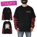 ミシカ MISHKA ロンT Tシャツ 長袖 カットソー ブランド メンズ レディース 大きいサイズ ストリート LS TEE MSS200053 ブラック M L
