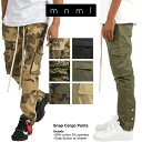mnml スナップカーゴパンツ ミニマル SNAP CARGO PANTS ストレッチ メンズ レディース ダンス 迷彩 カモフラ ブラック XS S M L XL